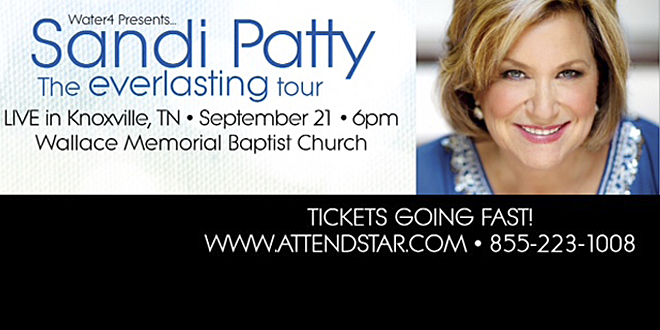 Sandi Patti LIVE in Knoxville – September 21st