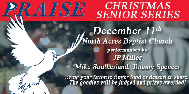 Praise 96.3 Christmas Senior Series on December 11th