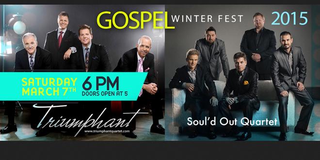 Gospel Winterfest w/ Triumphant Quartet and Soul'd Out